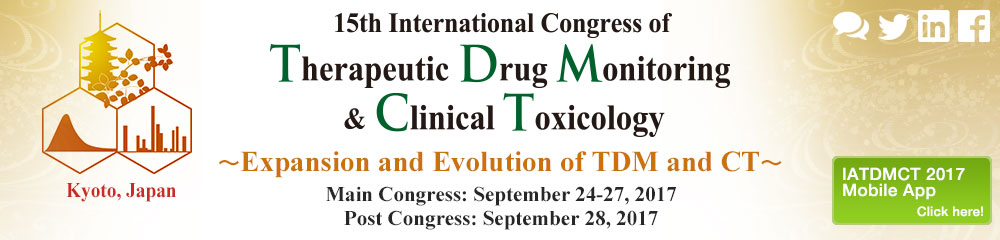 15th International Congress of Therapeutic Drug Monitoring & Clinical Toxicology
